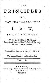 The Principles of Natural and Politic Law: Volume 2