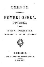 Homēros: Odyssea. Batrachomyomachia. Hymni, etc