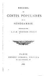 Recueil de contes populaires de la Sénégambie