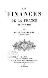 Les finances de la France de 1870 à 1891