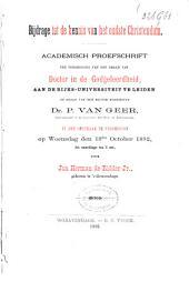 Bijdrage tot de kennis van het oudste Christendom