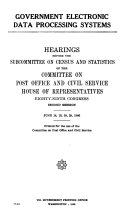 Hearings, Reports and Prints of the House Committee on Post Office and Civil Service