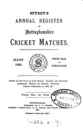 Spybey's annual register of Nottinghamshire cricket matches. Season 1883