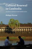 Cultural Renewal in Cambodia PDF