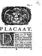 Placaat: de Staaten des Furstendoms Gelre en Graafschaps Zutphen ...