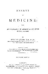 Essays on Medicine: Being an Investigation of Homoeopathy and Other Medical Systems