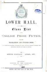 Class List for English Prose Fiction PDF