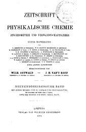 Zeitschrift für physikalische Chemie, Stöchiometrie und Verwandtschaftslehre: Band 39
