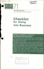 Checklist for Going Into Business