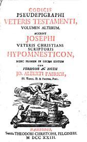 Codex pseudepigraphus Veteris Testamenti: Volume 2