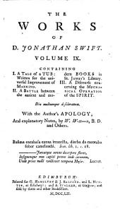 The Works of D. Jonathan Swift: In Nine Volumes, Volume 9
