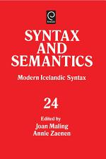 Modern Icelandic Syntax