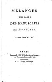 Mélanges extraits des manuscrits: Volume2
