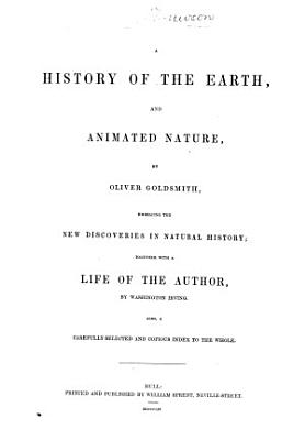 A History of the Earth  and Animated Nature PDF