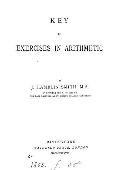 Exercises in Arithmetic PDF
