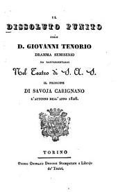 Il dissoluto punito ossia D[on] Giovanni Tenorio