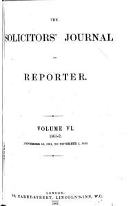 The Solicitors  Journal   Reporter PDF