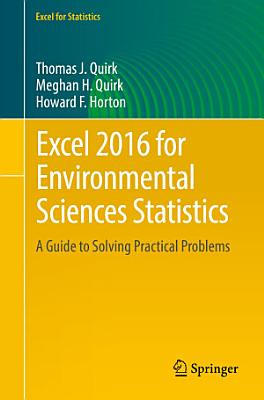 Excel 2016 for Environmental Sciences Statistics PDF