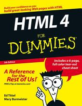 HTML 4 For Dummies: Edition 5