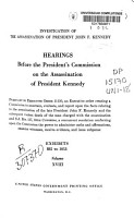 Hearings Before the President s Commission on the Assassination of President Kennedy PDF