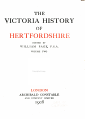 The Victoria History of the County of Hertford: Volume 2