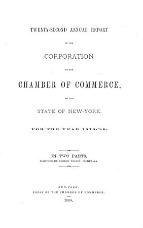 Annual Report of the Chamber of Commerce of the State of New York  for the Year     PDF
