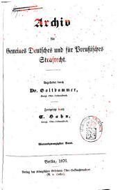 Archiv für gemeines deutsches und für preußisches Strafrecht: Band 6