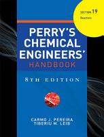 PERRY S CHEMICAL ENGINEER S HANDBOOK 8 E SECTION 19 REACTORS  POD  PDF