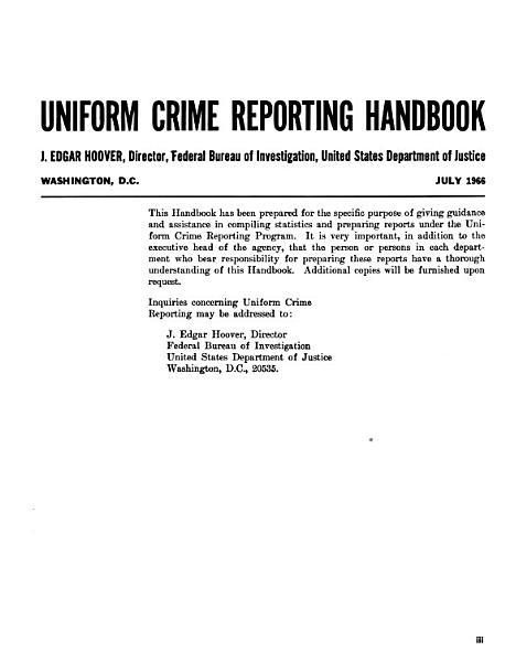 Download Uniform Crime Reporting Handbook Book