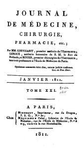 Journal de médecine, chirurgie, pharmacie, etc: Volumes21à22