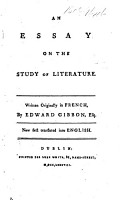 An Essay on the Study of Literature  etc PDF