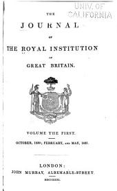 The Journal of the Royal Institution of Great Britain: Volume 1