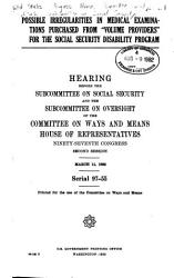 Possible Irregularities in Medical Examinations Purchased from  volume Providers  for the Social Security Disability Program PDF