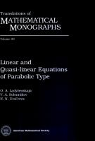 Linear and Quasi linear Equations of Parabolic Type PDF