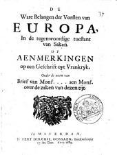 De ware belangen der vorsten van Europa: Volume 1