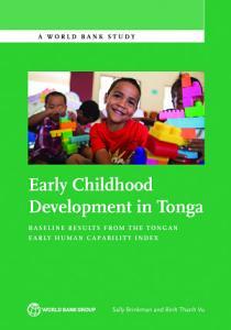Early Childhood Development in Tonga Book