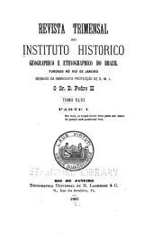 Revista do Instituto Histórico e Geográfico Brasileiro: Volume 46;Volumes 66-67