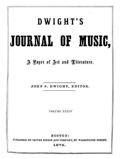 Dwight s Journal of Music  a Paper of Art and Literature PDF