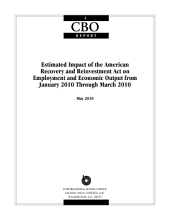 Estimated Impact of the American Recovery and Reinvestment Act on Employment and Economic Output from January 2010 Through March 2010