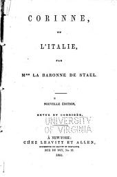 Corinne, ou, L'Italie: (extraits), Volumes1à2