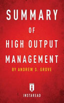 Summary of High Output Management