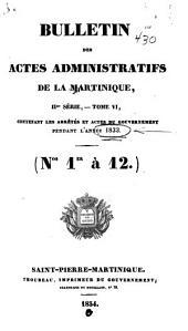 Bulletin des actes administratifs de la Martinique