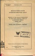 Report of the Senate Delegation on the Meeting   Mexico United States Interparliamentary Group PDF