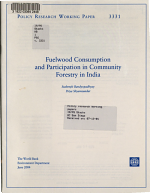 Fuelwood Consumption and Participation in Community Forestry in India PDF
