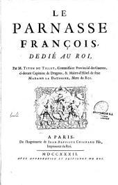 """Le Parnasse François, dédié au Roi ...: pagination continue avec """"le Parnasse..."""""""