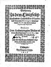 Bekehrung zu dem einigseligmachenden catholischen Glauben deß Herrn von Montagnes