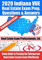 2020 Indiana VUE Real Estate Exam Prep Questions   Answers PDF
