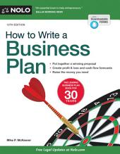 How to Write a Business Plan: Edition 12