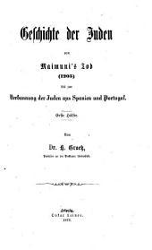Geschichte der Juden von den ältesten Zeiten bis auf die Gegenwart: Band 7