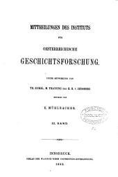 Mittheilungen des Instituts für Oesterreichische Geschichtsforschung: Band 3